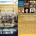 Peace Symposium 2015 : Understanding Shariah The Wrong Way