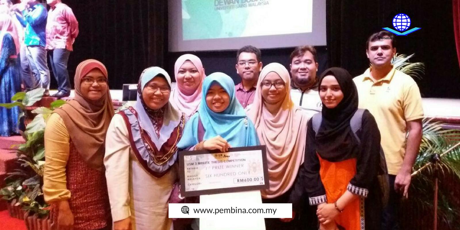 "Jawatankuasa PEMBINA Pulau Pinang Johan ""The 3-minute Thesis"" USM"