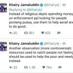Khairy Perlu Berhenti Polimikkan Isu Penangkapan Orang Tidak Berpuasa