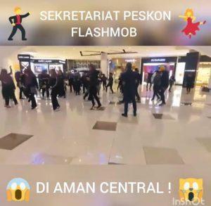 flashmob uum 2018 di aman central